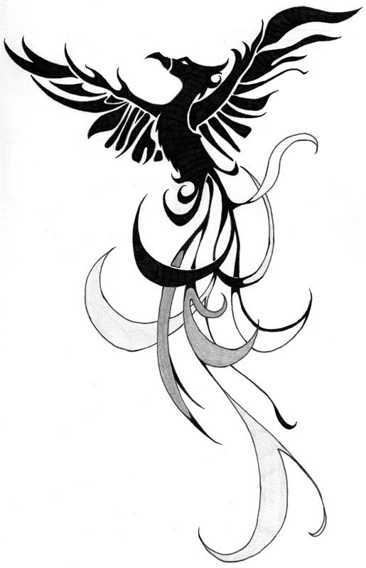 Phoenix Free Tattoo Design