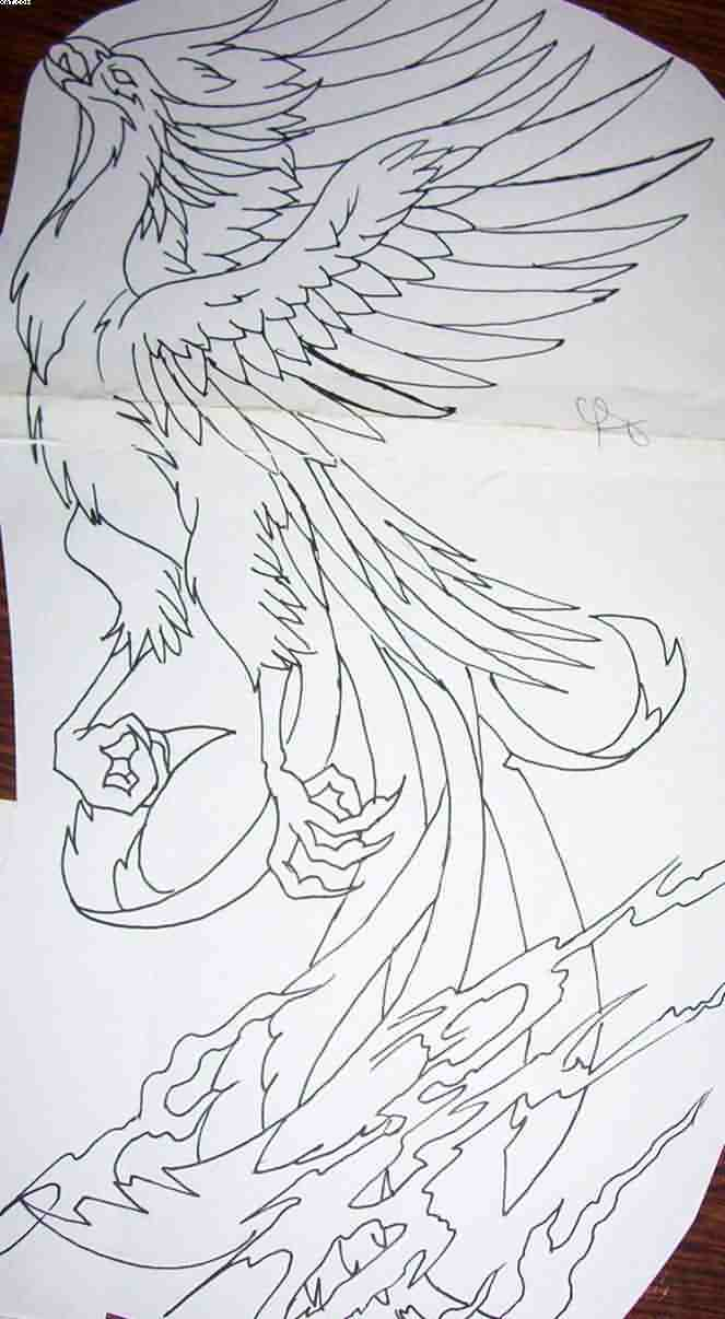 Phoenix Outline Tattoo Page