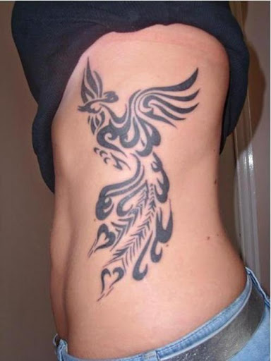 Phoenix Tattoo On Side Body