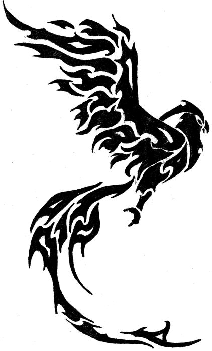 Phoenix Tattoo Pattern
