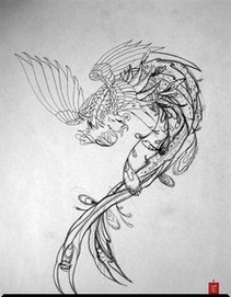 Phoenix Tattoo Sketch