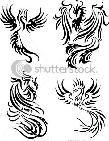 Phoenix Tribal Tattoo Designs