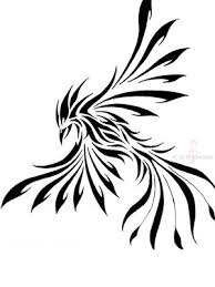 Phoenix Tribal Tattoo Sample