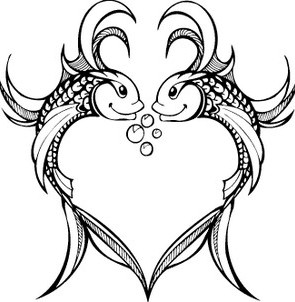 Photo Of Heart Pisces Tattoo