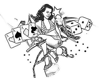 Photo Of Pin Up Girl And Dice Tattoo Design