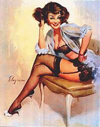 Pin Up Girl Tattoo Painting