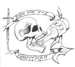 Pirate Skull And Beer Tattoo Sample