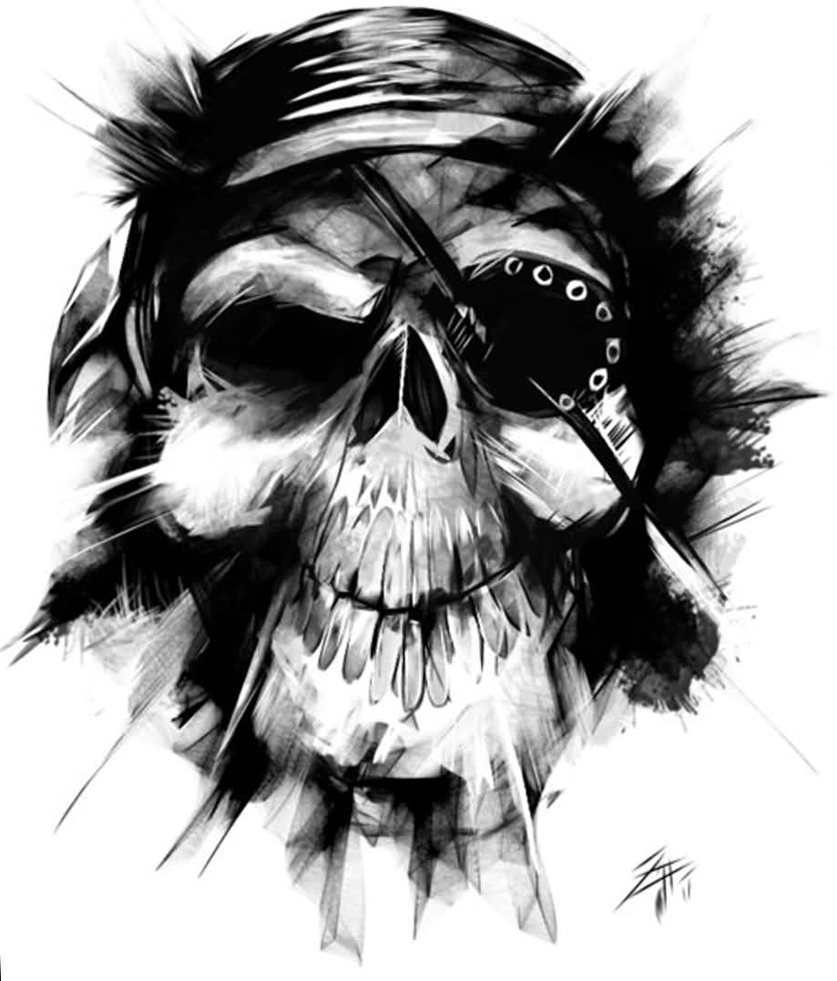 Pirate Skull Tattoo Sample
