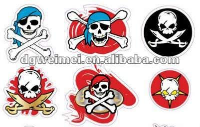 Pirate Skull Tattoos Set