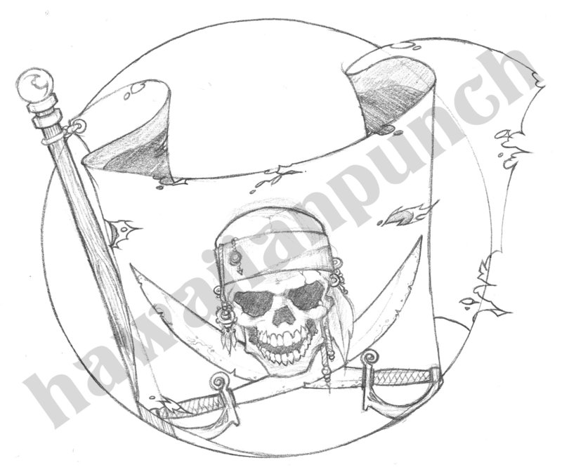Pirate Tattoo Sketch
