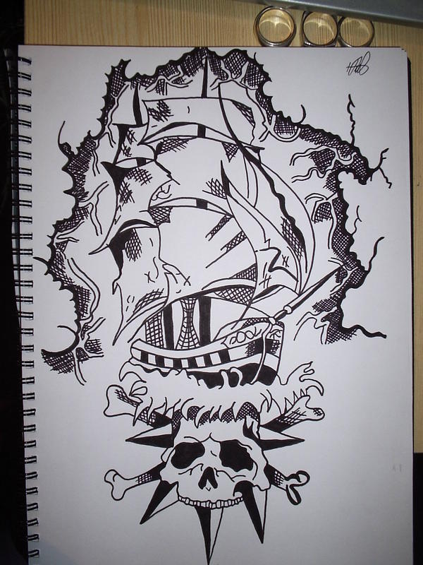 Pirate Tattoos Drawing Page