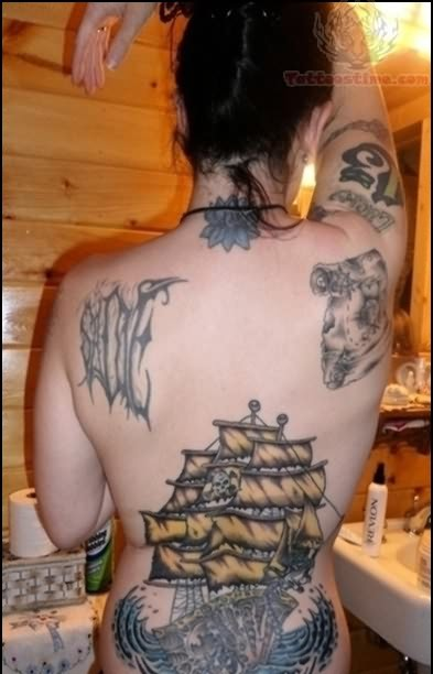 Pirate Tattoos Look Sexy On Back