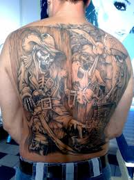 Pirate Tattoos On Whole Back