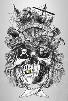 Pirate Tattoos Poster