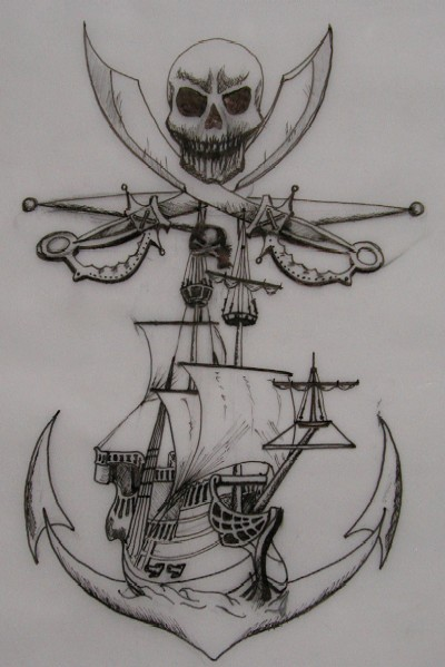 Pirate Tattoos Sketch