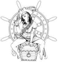 Pirate Wench Tattoo Sample