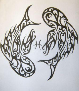 Pisces Tribal Tattoos Pic