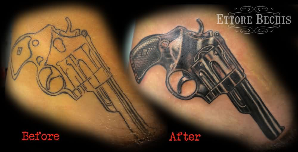 Pistol Cover Up Tattoos