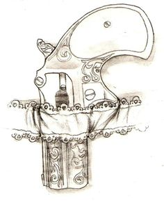 Pistol Garter Belt Tattoo Sketch