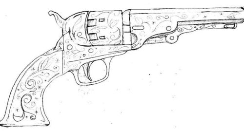 Pistol Tatoo Sketch