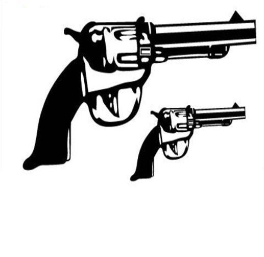 Pistol Tattoo Designs