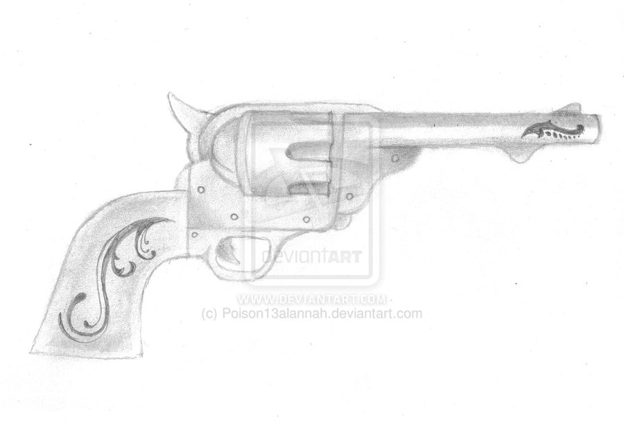 Pistol Tattoo Sketch