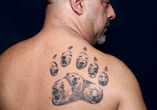 Polar Bear Paw Tattoo For Men