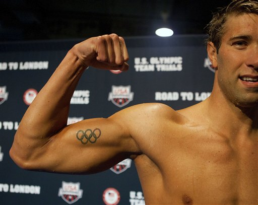 Popular Olympic Rings Tattoos On Muscles