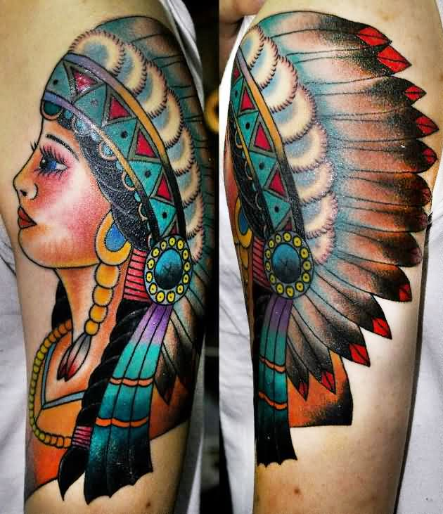 Pretty Native American Girl Tattoos