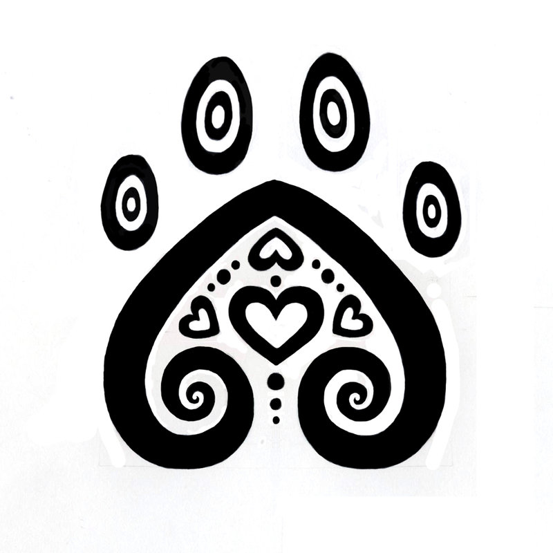 Pretty Paw Print Tattoo Sample