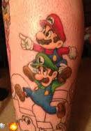Princess Peach And Mario Bros Tattoos