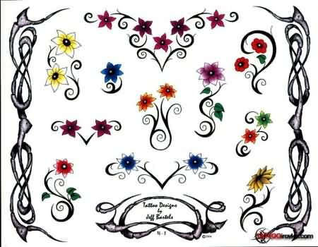 Printable Flower Tattoo Designs