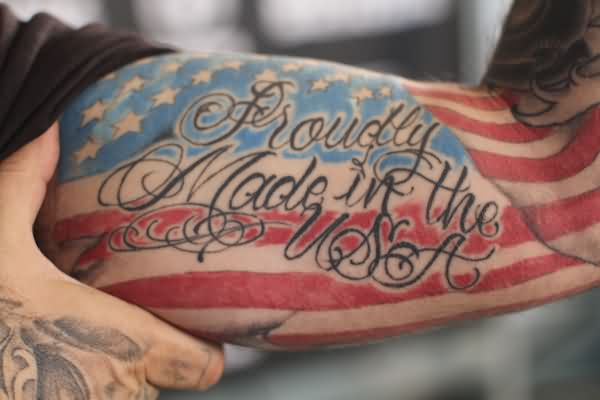 Proudly Made In The USA Patriotic Tattoo
