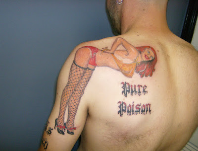Pure Poison Pin Up Girl Tattoo