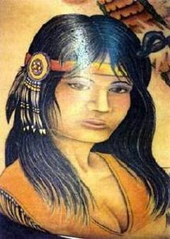 Quiet Girl Native American Tattoo