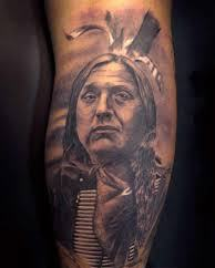 Realism Native American Chief Tattoo