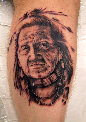 Realism Native American Tattoo