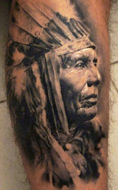 Realism Old Portrait Tattoo