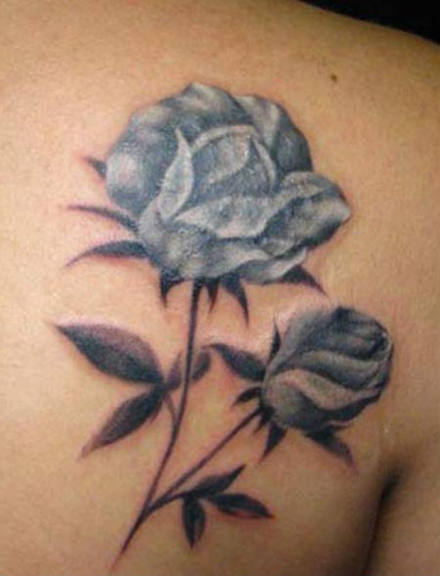 Realistic Rose Flower Tattoos
