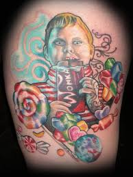 Realistic Willy Wonka - Video Game Tattoo