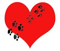 Red Heart Paws Tattoo Sample