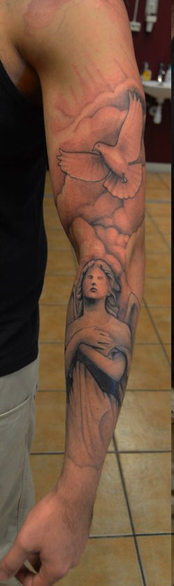 Religious Tattoos On Sleeve