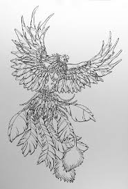 Rising Phoenix Tattoo Sketch