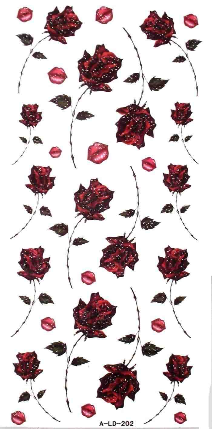 Rose And Lips Kiss Tattoo Designs