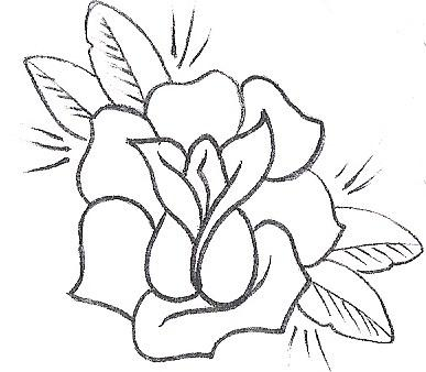 Rose Flower Tattoo Sample