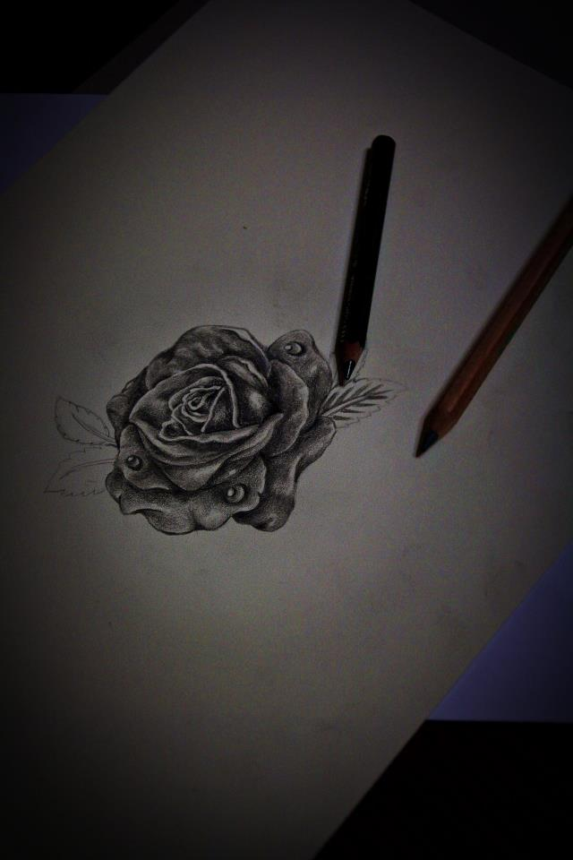 Rose Pencil Sketch