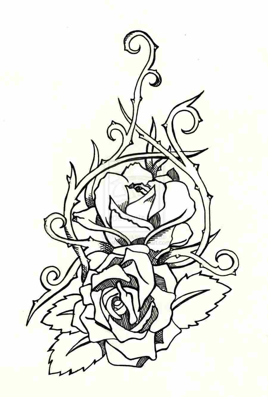 Roses Tattoos Flash