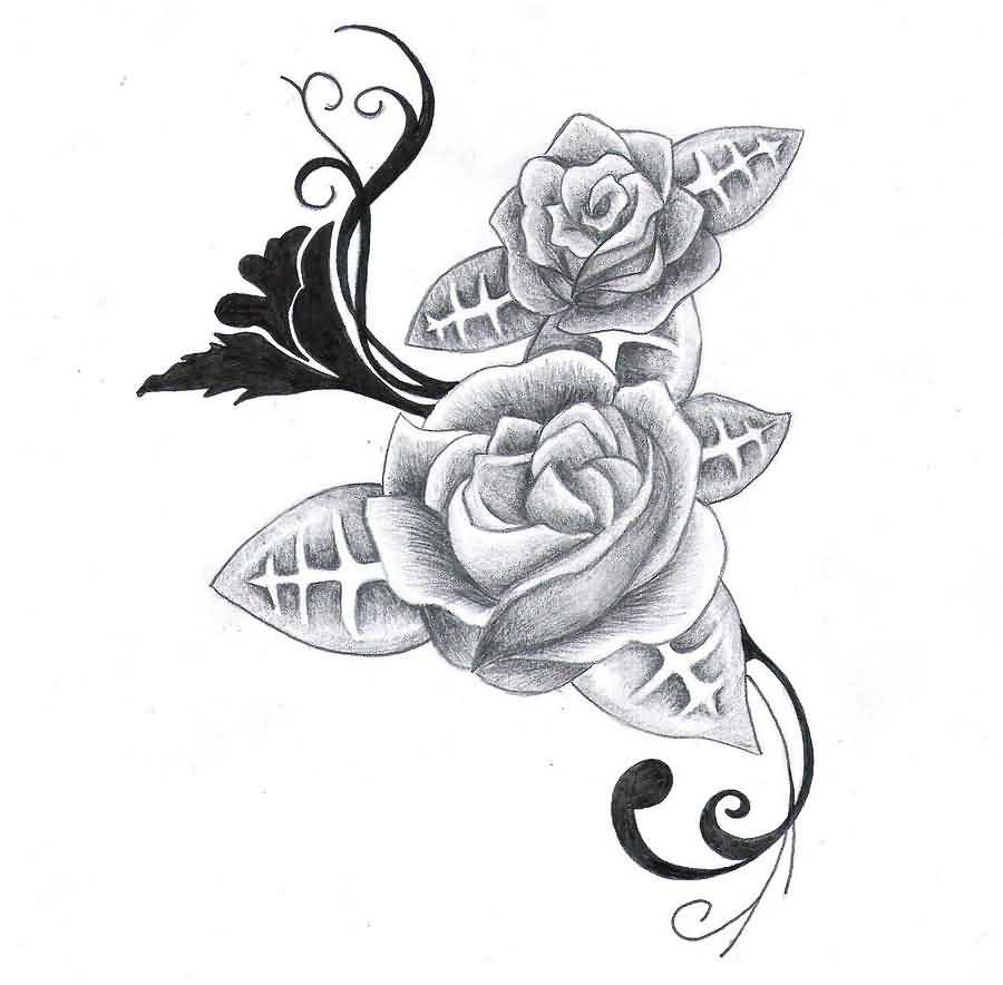 Roses Tattoos Sketch