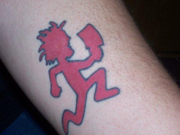 Running Hatchet Man Symbol Tattoo