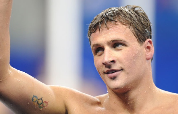 Ryan Lochte's New Style Olympic Tattoo